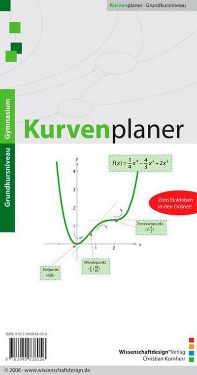 Kurvenplaner - Wissenschaftdesign Verlag Christian Kornherr - Landkarte, Deutsch, Christian Kornherr, ,