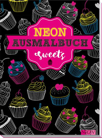 sweets-neon-ausmalbuch
