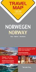 Reisekarte Norwegen 1:800.000