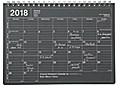 MARK'S 2018 Tischkalender S // Black