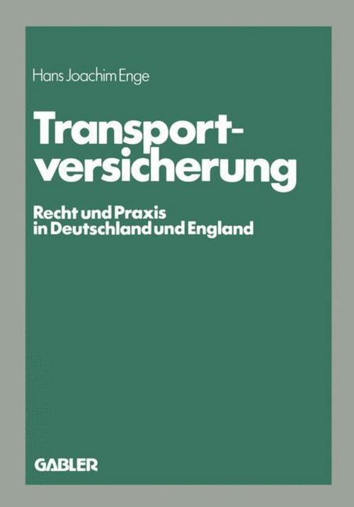 Transportversicherung - Enge Hans Joachim -  9783409858434