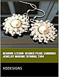 Beading Lesson: Beaded Pearl Earrings Jewelry Making Tutorial T194
