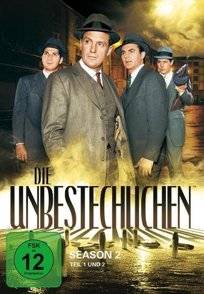 Die Unbestechlichen: Season 2 - Teil 1 und 2 [8 DVDs] - Paramount (Universal Pictures) - DVD, Englisch| Deutsch| Französisch| Dänisch| Niederländisch| Finnisch| Norwegisch| Spanisch| Schwedisch, Robert Stack, Season 2, Season 2