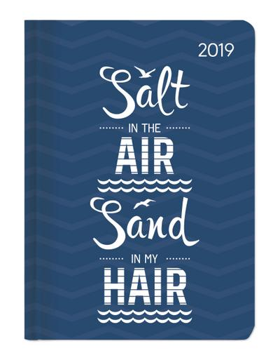 Buchkalender Mini Style Salty Air 2019 - Taschenplaner / Taschenkalender A6 - Day By Day - 352 Seiten - ALPHA EDITION - Kalender, Deutsch| Englisch| Französisch| Italienisch, ALPHA EDITION, Salt in the air, sand in my hair, Salt in the air, sand in my hair