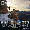 National Geographic 12 places to hike 2018 Broschürenkalender