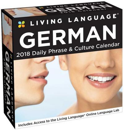 Living Language: German 2018 Day-to-Day Calendar - Brown Trout Publishers Ltd - Kalender, Englisch, Andrews McMeel Publishing, Daily Phrase & Culture Calendar. Incl. Acces to the Online Language Lab, Daily Phrase & Culture Calendar. Incl. Acces to the Online Language Lab