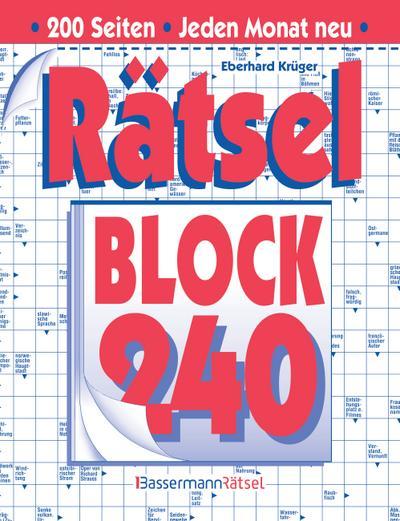 Rätselblock 240 - Bassermann Verlag - Broschiert, Deutsch, Eberhard Krüger, ,