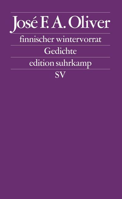 finnischer wintervorrat: Gedichte (edition suhrkamp)
