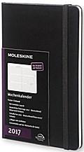 Moleskine 12 Monate Wochenkalender L/A5, Horizontal, Hard Cover, Schwarz 2017