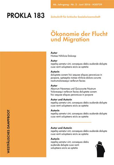 Ökonomie der Flucht und Migration
