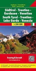 Südtirol - Trentino - Gardasee - Venetien 1:200.000  Auto- und Freizeitkarte