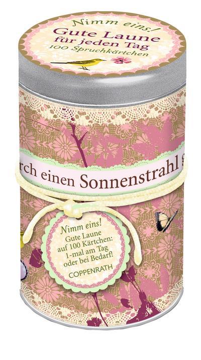 spruchedose-nimm-eins-gute-laune-fur-jeden-tag-100-spruchkartchen, 8.44 EUR @ regalfrei-de