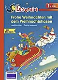 Frohe Weihnachten mit dem Weihnachtshasen   ; ...