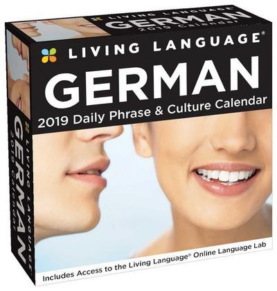 Living Language: German 2019 Day-to-Day Calendar - Brown Trout Publishers Ltd - Kalender, Englisch, Living Language, Daily Phrase & Culture Calendar, Daily Phrase & Culture Calendar