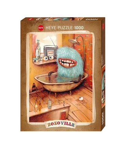 Heye 29539 - Standardpuzzle, Zozoville, Bathtub, 1000 Teile - Heye In Kalenderverlag KVH - Spielzeug, Deutsch, Mateo Dineen, ,