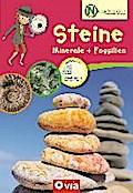 Steine, Mineralien + Fossilien