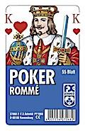 Poker, Rommé - Französisches Bild   ; Deutsch