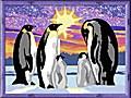 Pinguinfamilie. Malen nach Zahlen Serie D