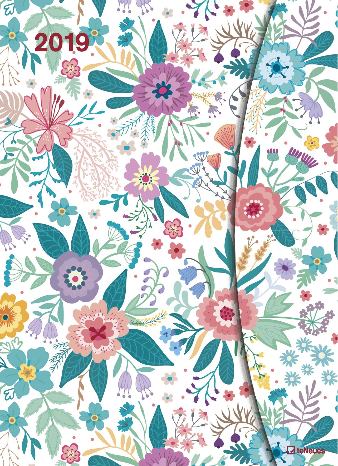 Flowers-2019-Terminkalender-Wochenplaner