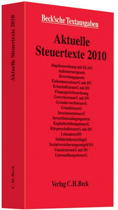 aktuelle-steuertexte-2010-textausgabe