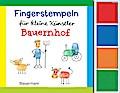 Fingerstempeln f.kl. Künstler- Bauernhof-Set: Bauernhof. Mit vier Fingerstempelfarben
