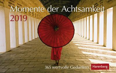 Momente der Achtsamkeit - Kalender 2019: 365 wertvolle Gedanken - Athesia Kalenderverlag Gmbh - Kalender, Deutsch, Julia Johannsen, 365 wertvolle Gedanken, 365 wertvolle Gedanken