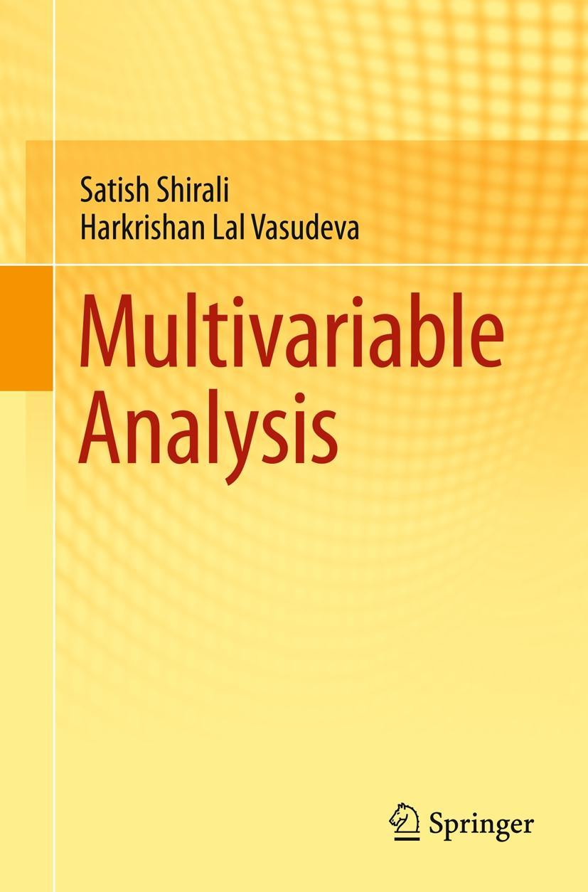 Neu - Multivariable Analysis - Satish Shirali / 9780857291912