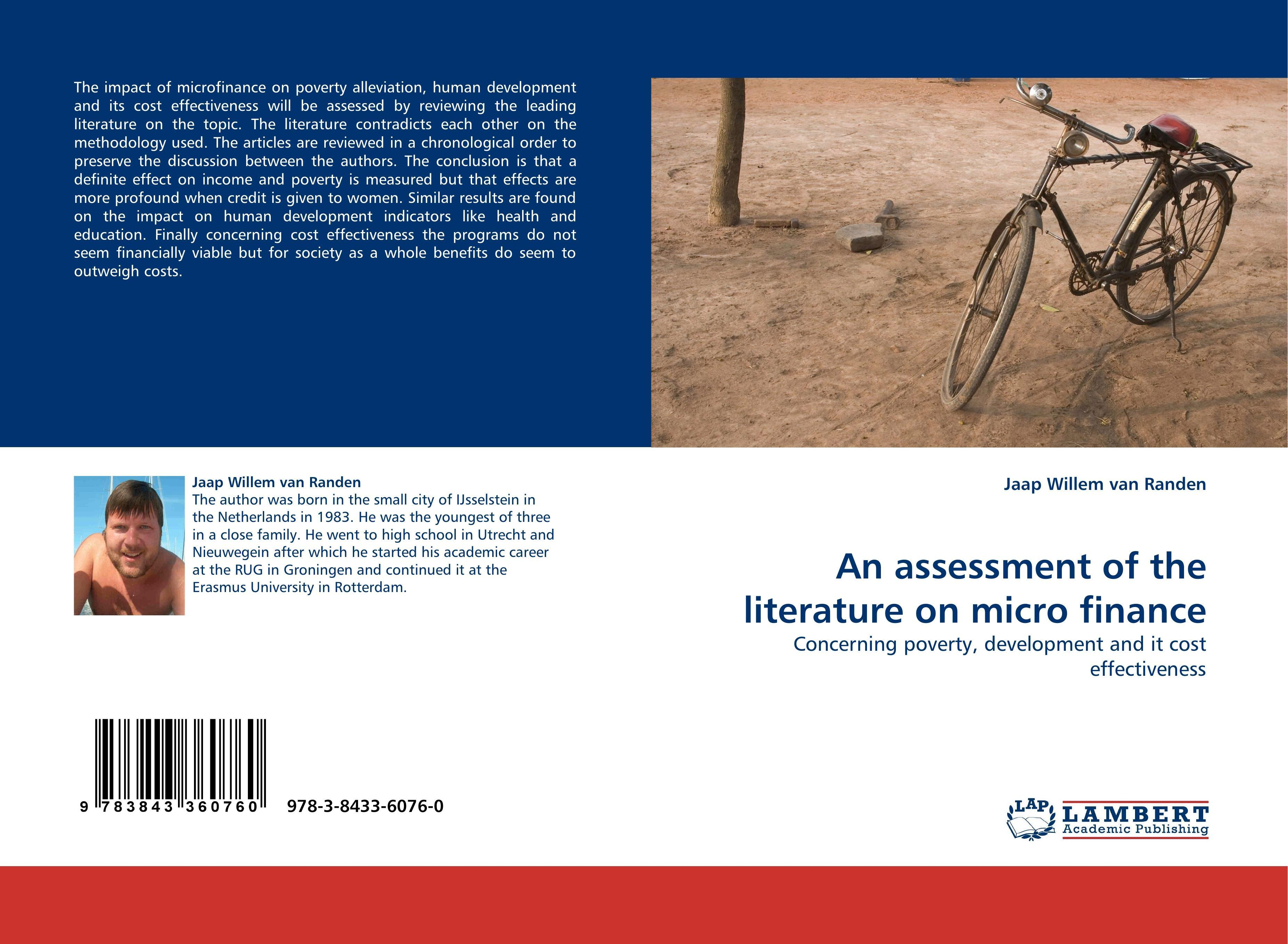 An-assessment-of-the-literature-on-micro-finance-Jaap-Will-9783843360760
