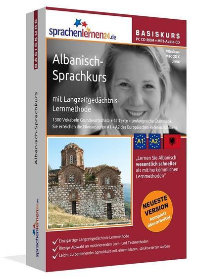 Sprachenlernen24.de Albanisch-Basis-Sprachkurs. PC CD-ROM + MP3-Audio-CD
