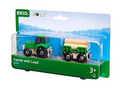 BRIO Traktor mit Holz-Anhänger