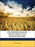 Oesterreichische Zeitschrift für Homoeopathie,