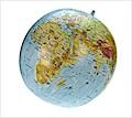 Topographischer Globus aufblasbar