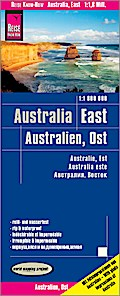 Reise Know-How Landkarte Australien, Ost  1 : 1.800.000