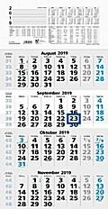 Viermonatskalender, blau/schwarz (Nr.959-0015) 2017