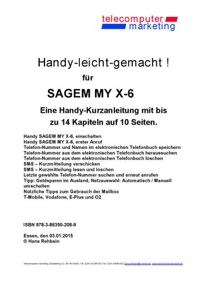Sagem MY X-6-leicht-gemacht