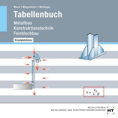 Tabellenbuch: Metallbau Konstruktionstechnik Feinblechbau - Verlag Handwerk Und Technik - CD-ROM, Deutsch, Josef Moos, Hans Werner Wagenleiter, Peter Wollinger, ,