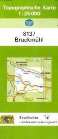 TK25 8137 Bruckmühl: Topographische Karte 1:2 ...