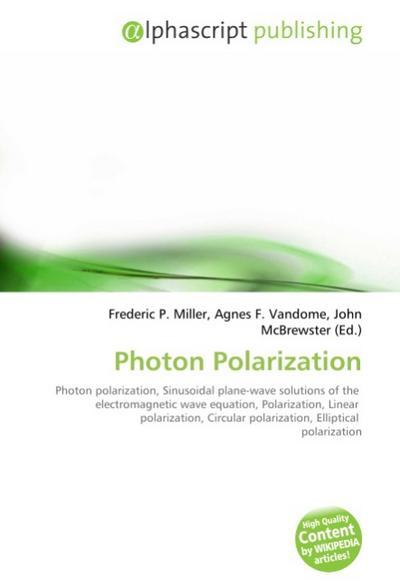 Photon Polarization
