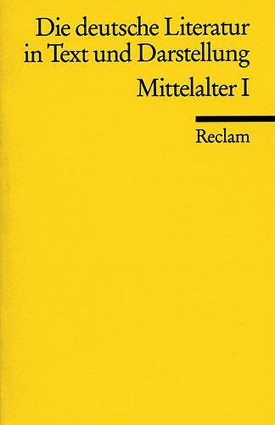die-deutsche-literatur-in-text-und-darstellung-mittelalter-i-, 4.20 EUR @ regalfrei-de