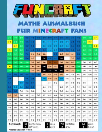 Funcraft - Mathe Ausmalbuch für Minecraft Fans