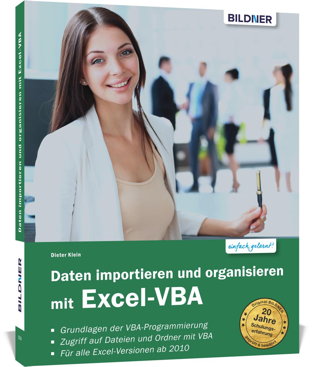 Dieter-Klein-Daten-importieren-und-organisieren-mit-Excel-VBA9783832803186