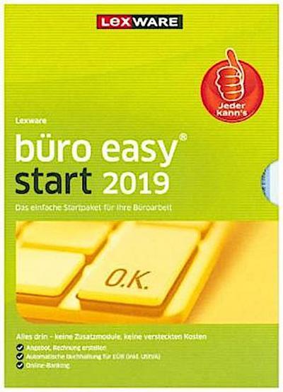 Lexware büro easy start 2019, 1 DVD-ROM