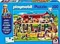 Playmobil Bauernhof. Puzzle 100 Teile (inkl. Playmobil Figur)