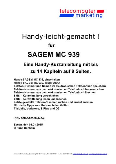 Sagem MC 939-leicht-gemacht