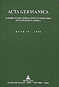 Acta Germanica. Bd. 19, 1988