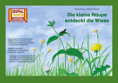 Kamishibai: Die kleine Raupe entdeckt die Wiese: 6 Bildkarten für das Erzähltheater - Hase Und Igel Verlag - Taschenbuch, Deutsch, Monika Burger, 6 Bildkarten für das Erzähltheater, 6 Bildkarten für das Erzähltheater