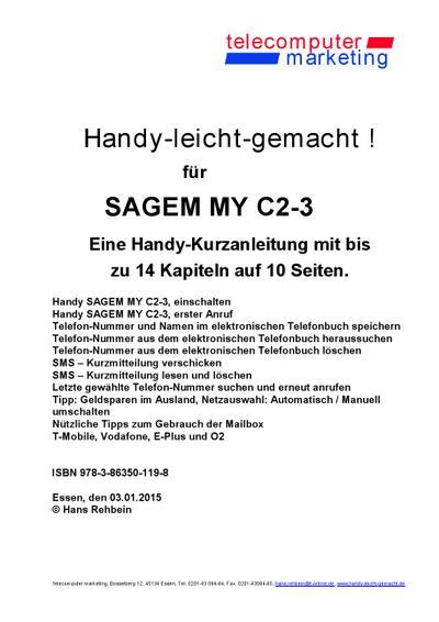 Sagem MY C2-3-leicht-gemacht