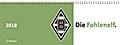 Borussia Mönchengladbach Tischquerkalender 2018