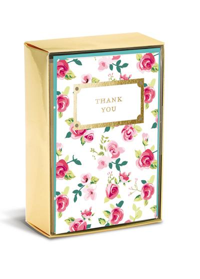 Boxed Notes: Floral Thank You - Gruß- und Geschenkkartenbox mit Kuverts: geblümt Dankeschön - Browntrout - Bürobedarf & Schreibwaren, Deutsch  Englisch, Graphique de France, 10 Gruß- und Geschenkkarten mit passenden Umschlägen, 10 Gruß- und Geschenkkarten mit passenden Umschlägen