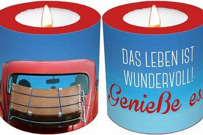 Leuchtkerze 'Das Leben ist wundervoll! Genieße es!'